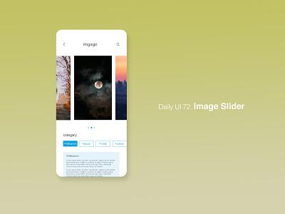 Daily UI 72/100 - Image Slider image image slider app website mobile web ux ui design dailyuichallenge dailyui