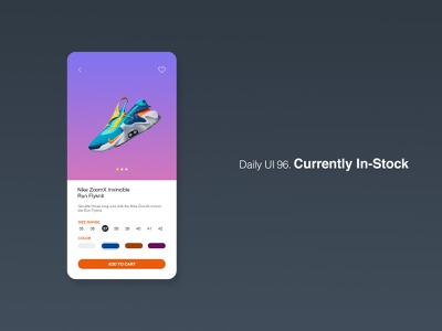 Daily UI 96/100 - Currently In-Stock in stock currently in stock instock app website mobile web ux ui design dailyuichallenge daily ui dailyui