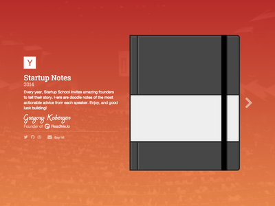 Startup Notes 2014