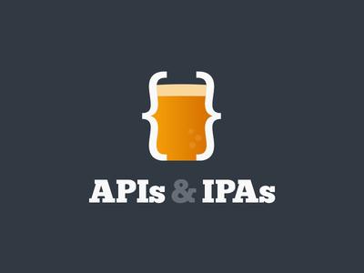 APIs & IPAs Logo beer logo ipa api glass