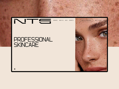 NTS skincare. Home page homepage home page ui design uidesign ui  ux uiux website design web design webdesign website typography site desktop web design ui ux clean minimal
