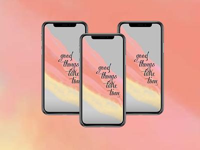 Dribbble Weekly Warm-up   Phone Wallpaper wallpaper app vector branding ui ux typography logo illustration icon design