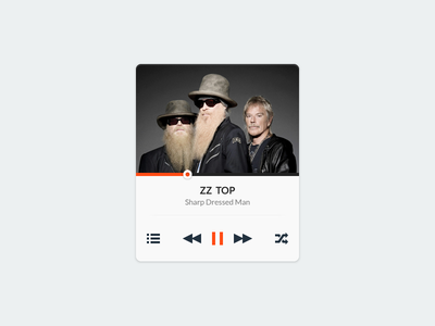 Music widget audio zz top