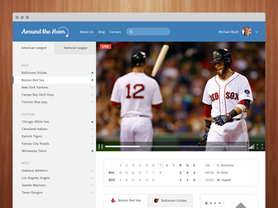 Around the Horn baseball streaming live web red sox