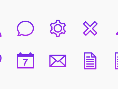 Icon Fun icons clean modern stroke simple