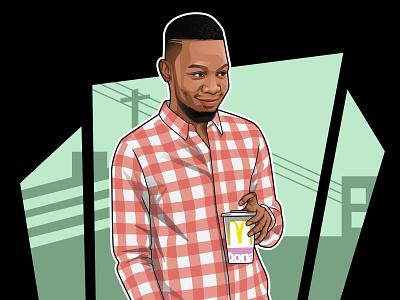 Vector or cartoon portrait with GTA style avatar