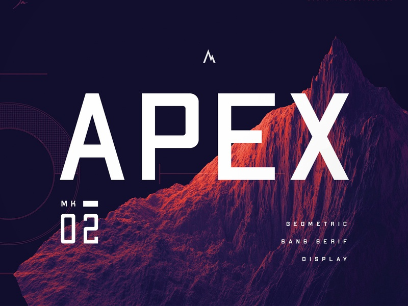 Apex Mk2  |  Geometric Typeface |  Introduction typeface design font awesome typeface. lettering letterform font family sports font font design typography freebie typeface font