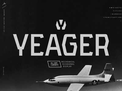 Yeager | FREE Font | Typeface Intro freebies free font sans serif font industrial font geometric font type daily typedaily typedesign typeface typography type font design font