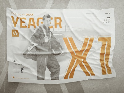 Yeager | FREE Font | Chuck Yeager Profile editorial design poster art air force military scifi industrial font athletic font sports font typeface free font font
