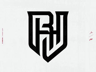 RJ Hampton | Athlete Brand Identity | Logo + Breakdown typography design icon branding design athletic logo nba basketball athletics athlete athlete branding identity sports logo sports design branding