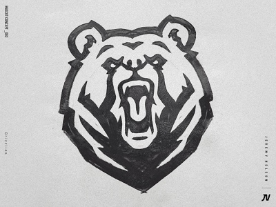 Grizzlies | Mascot Logo Concept concept logo roar bear logo animal logo grizzly bear sketch design illustration esports mascot typography logo sports logo identity sports design branding