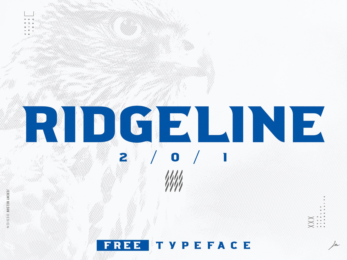 Ridgeline 201  |  FREE FONT  |  Spike-Serif Display Typeface typeface. lettering typeface designer basketball lacrosse soccer football athlete athletic font sports font sports athletics typeface design type art typography typophile font awesome font design typedesign typeface font