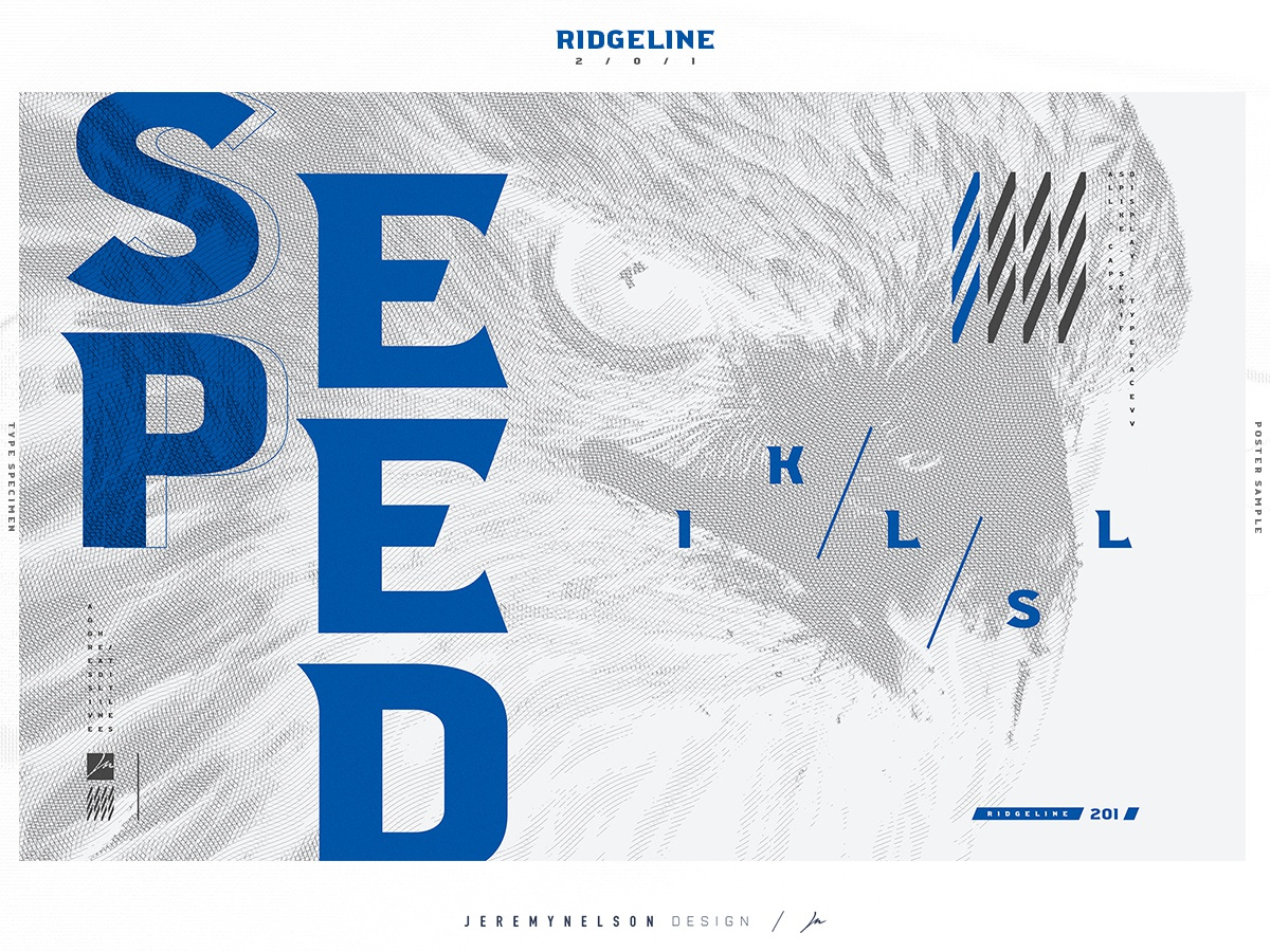 Ridgeline 201 | FREE Font | Typographic Poster 001 design resource free freebie font design font typeface design advertising design identity logo esports print design poster typeface type