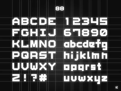 Font-88 beta grid font
