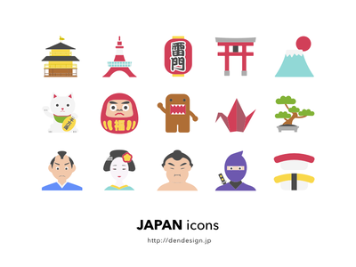 Japan Icons japan free vector sketch icon