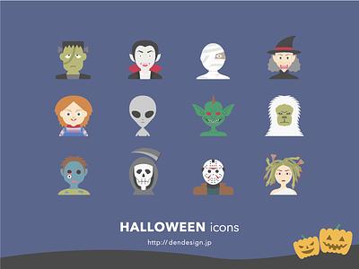Halloween Icons monster illustration icon halloween