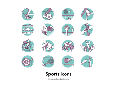 Sports icons  olympic illustration icon sports