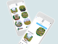 Illustrated iMessage Stickers