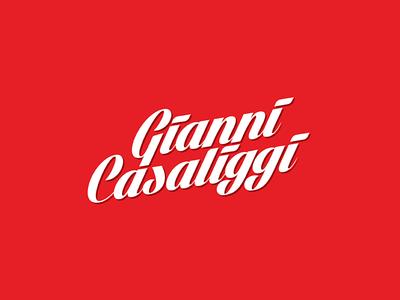 Gianni Casaliggi Logotype logotype brand identity logo branding pasta