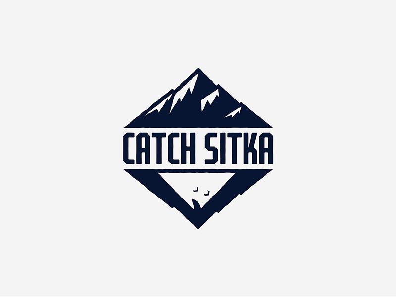 Catch Sitka Logo brand identity logo branding hunting fishing