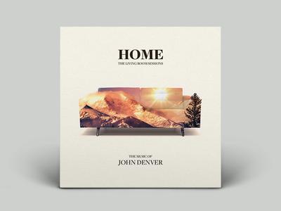 Home - The Living Room Sessions Album Art couch sofa rocky mountains john denver vinyl cd album
