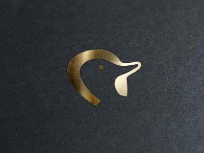 Duck + Horseshoe Logo horseshoe gold duck branding logo brand identity