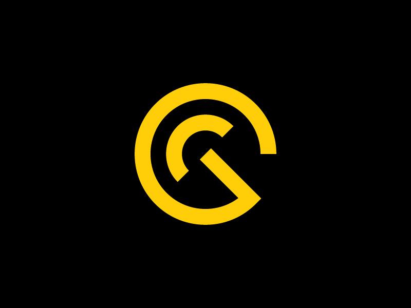 GC Speedometer Logo speedometer monogram car branding logo brand identity
