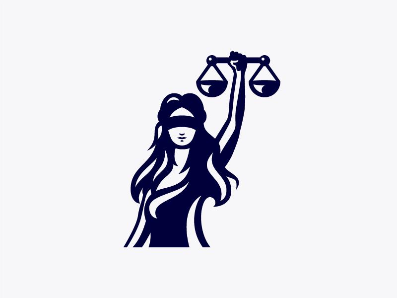 Lady Justice Logo attorney lady justice law branding brand identity logo