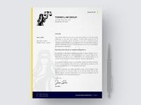 Law Letterhead Mockup firm law letterhead branding logo brand identity