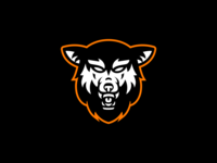 Wolf Snarling - Logo wolf logo tattoo snarling wolf design illustration dog logo brand identity branding