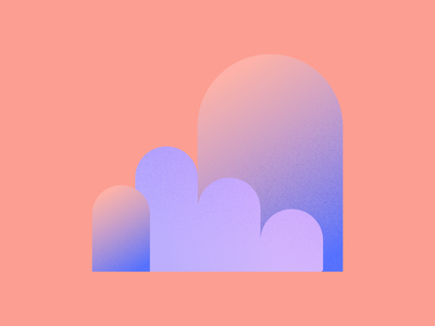 Felty Shapes design illustration branding gradient color textured shapes gradient gradients texture