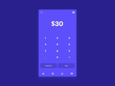 Pay App app payments payment finance uiux ui mobile banking typography gradient bottom sheet bottom bar credit card button wallet material design material calculator blue tonal