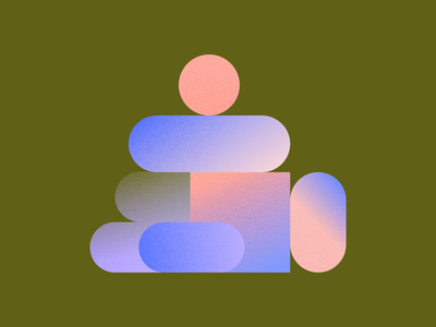 Felty Shapes textured texture gradient illustration website vector ui web branding