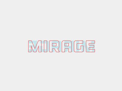 Mirage Logo logo overlay mirage overlapping type