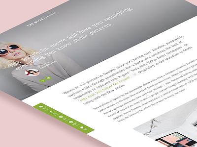 Blog Page blog ui website web tweet webdesign social sticky sidebar