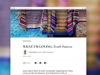 Blog Article Page ui blog full bleed web design website