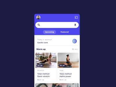 Fitness App – Freebie workout app workout cards video app bar tabs free sketch freebies free sketchapp sketch android theming interface material materialdesign app ui fitness