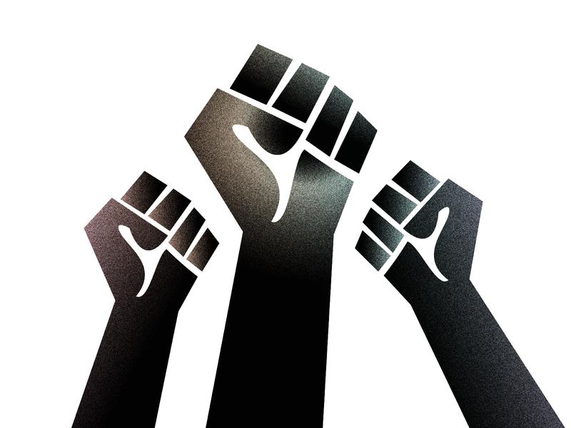 Black Lives Matter gradient vector illustration blacklivesmatter
