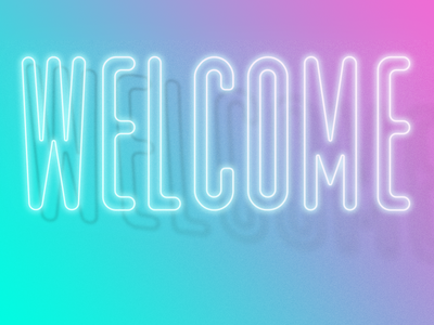 Welcome shadow training carousel type gradient light neon welcome