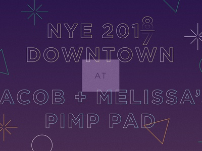NYE - We had a party... invite new years eve pimp party invitation digital 2018 2017 nye