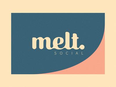 Melt tone pastel warm soft business card logo melt
