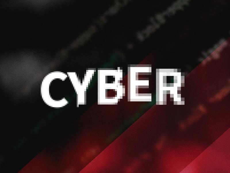 C Y B E R code pixel pixelated background cyber