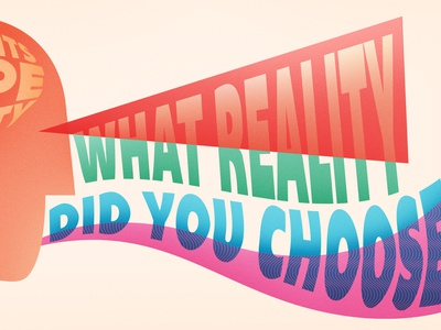 Thoughts shape reality quote reality thought face illustration