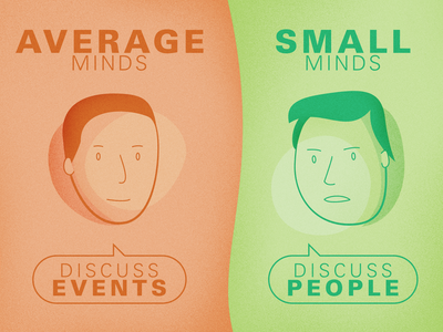 Great Minds Discuss Ideas noise grain quote vector illustration