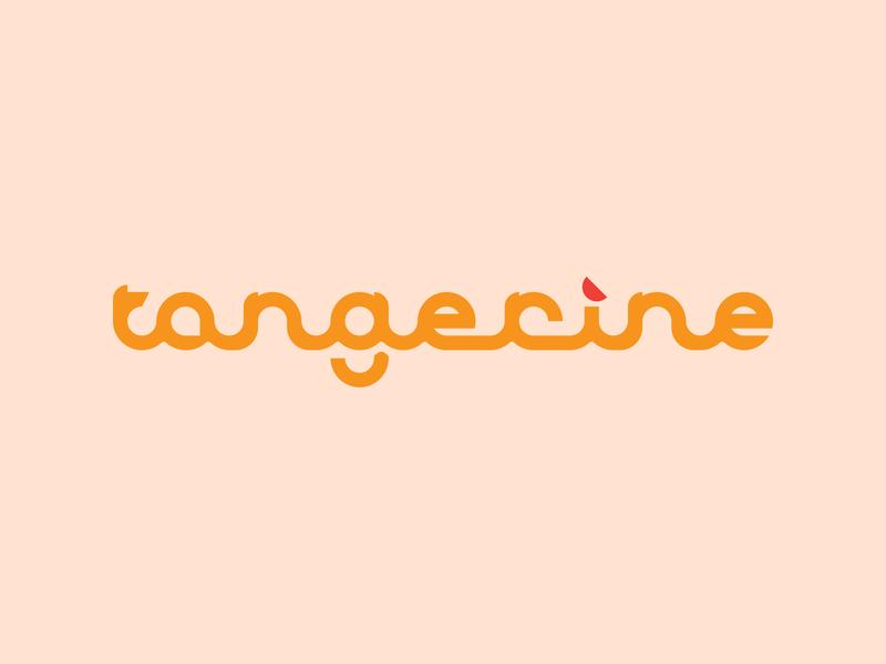 Tangerine Logo Concept citrus brand branding vector concept logo orange tangerine