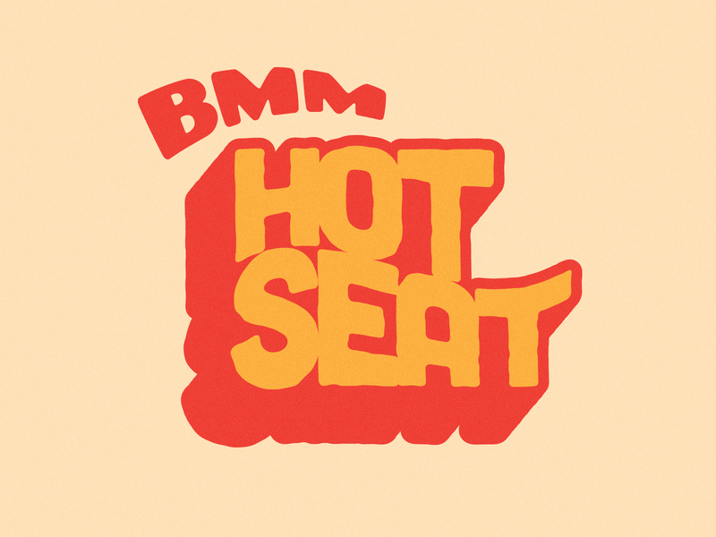 Hot Seat illustrator vector 70s type logo