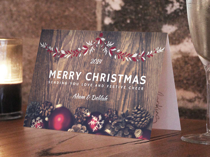 Christmas Card Canva Traditional Invitation Merry