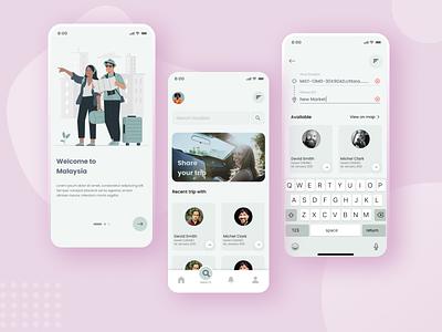 Travel App UI Design uidesign uxdesign user interface design user experience userinterface mobile app design app minimal design ux ui mobile ui