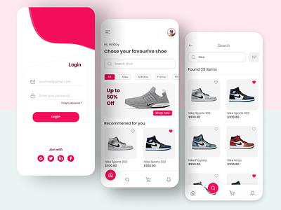 Online Shopping App mobileui mobile app ui design minimal user interface design userinterface uxdesign uiuxdesign mobile ui mobile app design