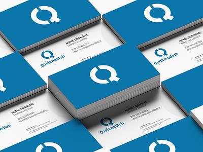 QualiMedLab Business Card print design logo design business card design